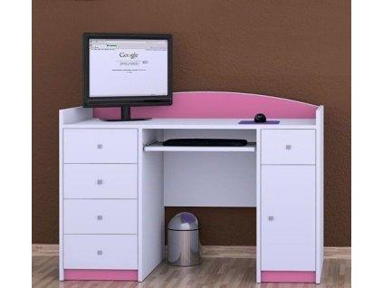 Písací stôl pre deti Happy Pink B01