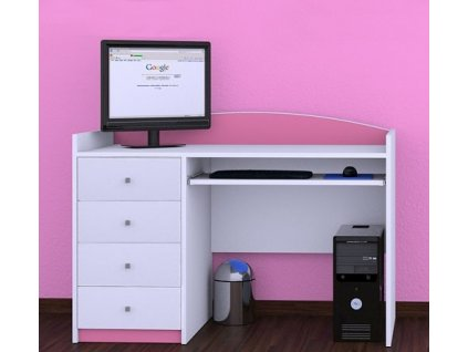 Písací stôl Happy Pink B03