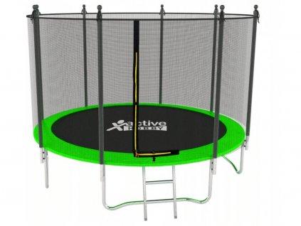 Trampolína Zelená Active Hobby 252cm s ochrannou sieťou a rebríkom