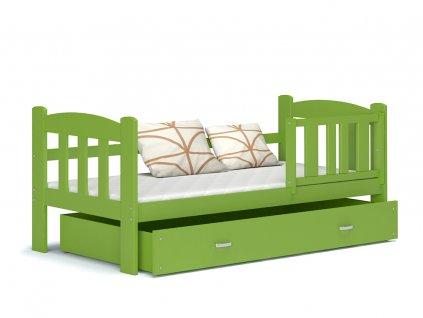 Tedi 160x70 Zelená detská posteľ