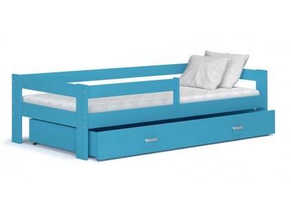 Hugo 160x80 Modrá detská posteľ Color