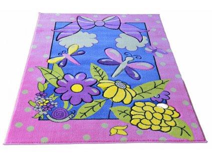 Detský koberec Pink 18 133x190
