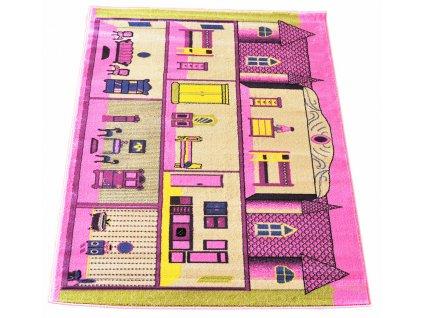 Koberce pre deti 133x190 Pink 15