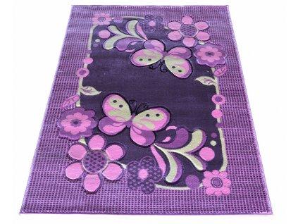Detský koberec 133x190 Lila mor 14