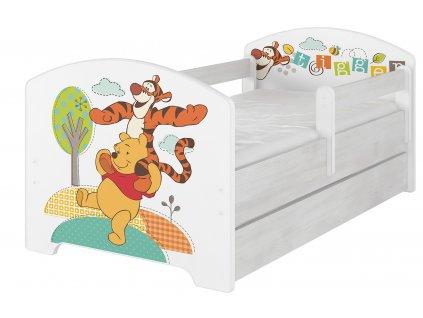 Detské postele disney Macko pu a tigrík 140x70 detská posteľ