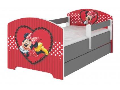 Disney Minnie srdce 160x80 detská posteľ