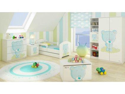 Modrý macík Detské izby 3ks - 140x70
