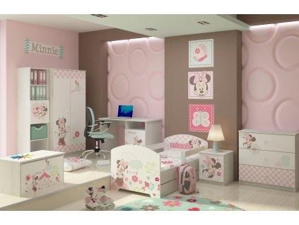 Dievčenská detská izba Disney Minnie - 140x70 3ks