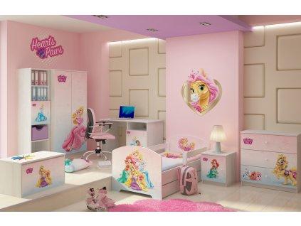 Moderné detské izby pre dievčatá Palace pets - 140x70 3ks