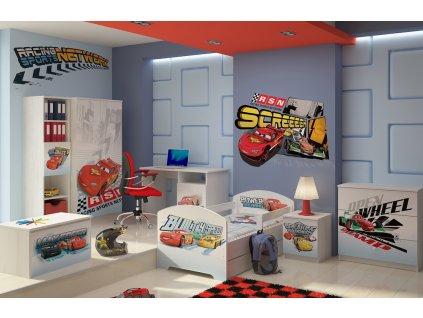 Chlapčenská detská izba Disney Cars Macqueen - 140x70  (3 ks)