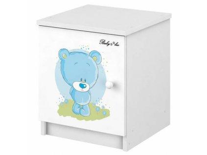 Detský nočný stolík Modrý macík