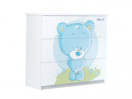 Detská komoda modrý macík