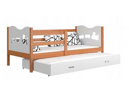 Detská posteľ MAX P2 s prístelkou 190x80 biela