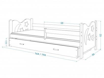 Detské postele Mikolaj 160x80 biela