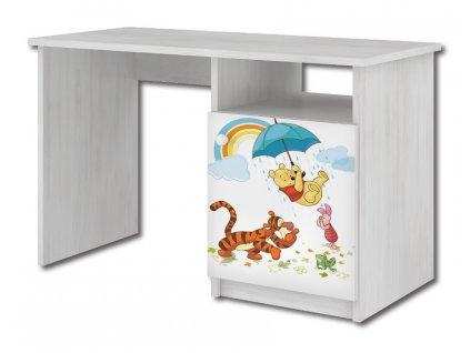 Hravé počítačové stoly pre deti disney macko pu a tigrík