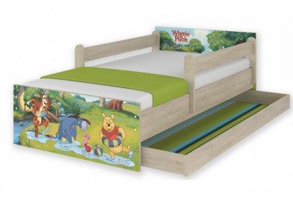 Detská posteľ Začarovaný les a macko pu Max 160x80
