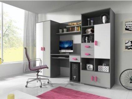 Študentská izba Tomi Sivo-ružová