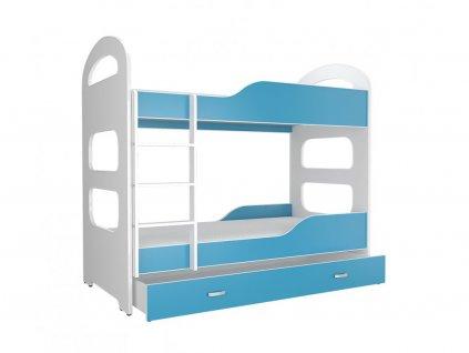 Patrik 180X80 poschodová posteľ modrá