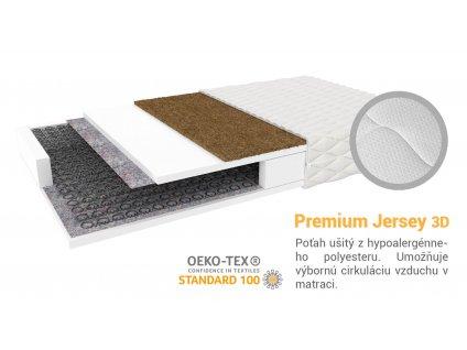 Sealy pružinový matrac s kokosom 200x160