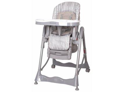 Stolička na kŕmenie Coto baby Mambo grey