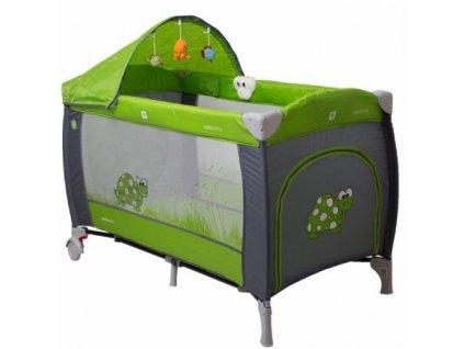 Prenosná postieľka pre deti Samba Lux - zelená