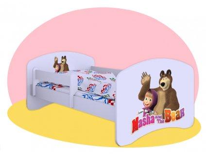 Hobby Máša a medveď - posteľ pre deti 140x70