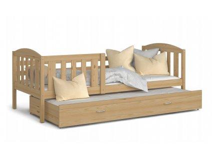 Detská posteľ s prístelkou Kubus P2 borovica 190x80