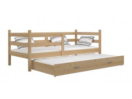 Detská posteľ s prístelkou Jacek P2 borovica 190x80