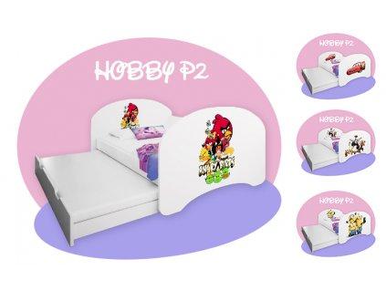 Posteľ s prístelkou Hobby P2 200x90