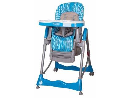 Coto baby Mambo Tyrkysová detská jedálenská stolička