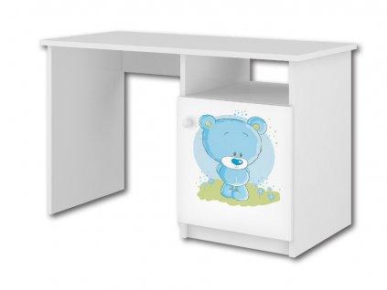 Detský písací stôl modrý macko