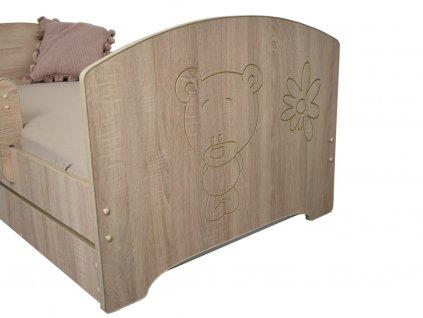 Detská posteľ Oskar X gravírovaný macík 160x80