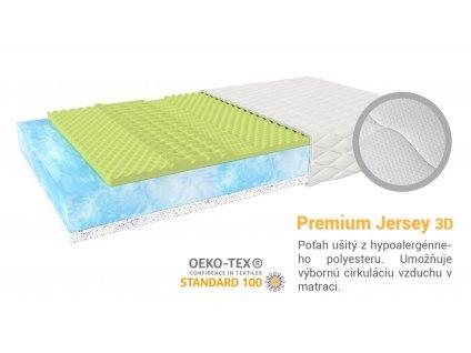 Inovovaný Priedušný latexový matrac Mariana 200x100