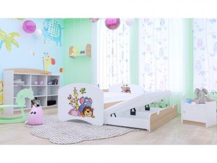 Detská posteľ Happy P2 160x80 hruška - 25 motívov