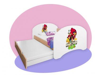 Hobby P2 detská posteľ s vyťahovacou prístelkou hruška 160x80