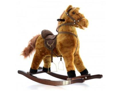 Hojdací koník pre deti - hnedý