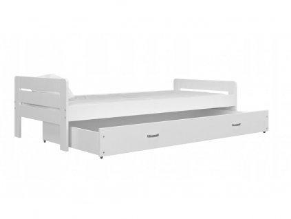 Posteľ Bartek Biela 200x90 s kvalitným matracom