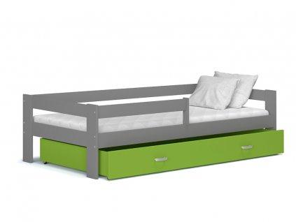 Detská posteľ Hugo MDF 160x80 sivá - viac farieb