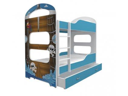 Dominik 2 poschodová posteľ 160x80 - 04D