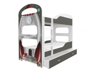 Dominik 2 180x80 poschodová posteľ - 1D