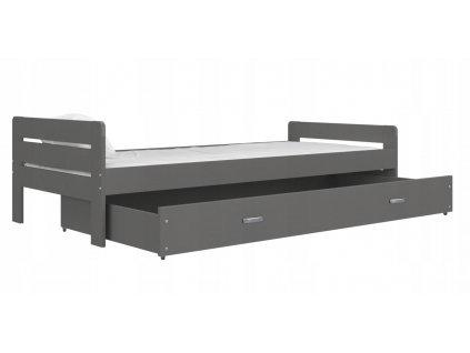 Bartek posteľ sivá bez matraca 200x90
