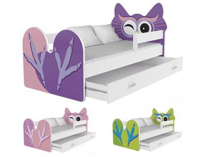 Sovička detská posteľ 140x80