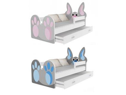 Králiček detská posteľ 140x80