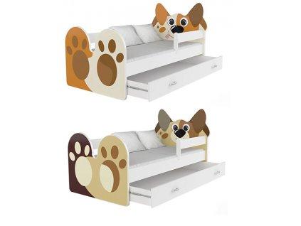 Posteľ pre deti psíček 140x80