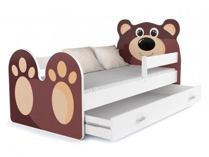 Medvedík detská posteľ 140x80
