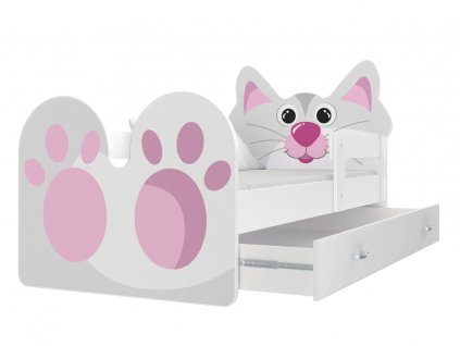 Mačička detská posteľ 180x80