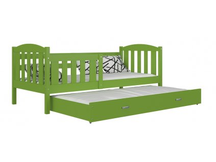 Kubus P2 zelená rozkladacia posteľ 190x80 color