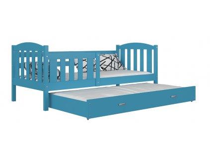 Kuba P2 190x80 modrá detská rozkladacia posteľ color