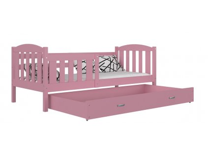 Kubus 190x80 ružová posteľ s úložným boxom color