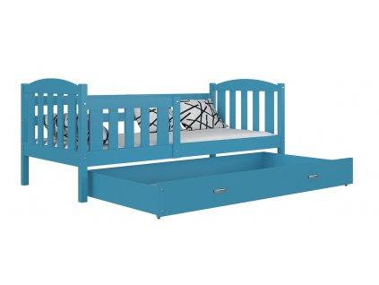 Kubus detská posteľ 190x80 modrá color